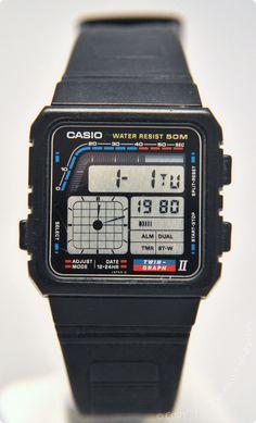 CASIO - AE-22W - DigitalHands. Released in 1988 Vintage Digital Watch -  Brought 5249cdc3f49
