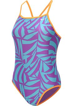 NIKE Women's Graphic Leaf Lingerie Tank Reversible One-Piece Swimsuit - SportsAuthority.com