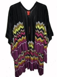Missoni for Target Women's Ruana Black/Purple Zig Zag Cape Shawl by Missoni for Target. $149.78. Since 1953, the legendary Missoni fashion house has been known worldwide for its eclectic mix-and-match patterns, colors and textures. Now, Missoni brings its iconic Italian lifestyle to you with the exclusive Missoni for Target collection.