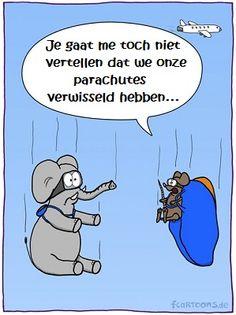 Lach van de Dag - Plaatje: Olifant- en muizensprong - Lachvandedag.nl - De dagelijkse humorsite