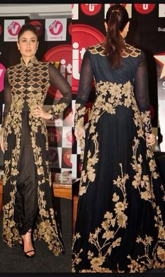 Stylish Party Wear Black Dresses for Indian & Pakistani Women Pakistani Dresses, Indian Dresses, Indian Outfits, Mode Abaya, Mode Hijab, Indian Attire, Indian Wear, Indian Designer Outfits, Designer Dresses