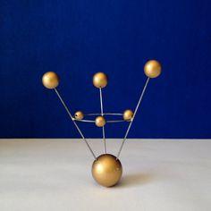 Atomic Orbit Ring GOLD Atom Space MOLECULE by OverTheTopFinials