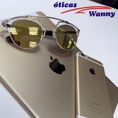 O glamour do dourado para te acompanhar todos os dias. #DiorSoreal #dourado #Gold #oculos #exclusivo #OticasWanny   www.oticaswanny.com