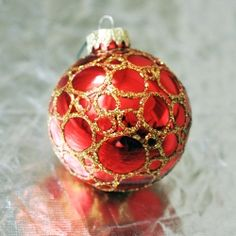 All you need is a glitter pen and your imagination to decorate your own baubles