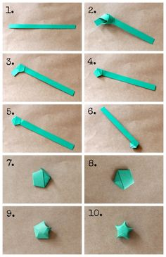 DIY Origami star garland - how to make origami stars from www. Design Origami, Instruções Origami, Origami Simple, Cute Origami, Origami Envelope, Origami Ball, How To Make Origami, Paper Crafts Origami, Useful Origami