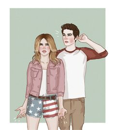 Stiles Stilinski and Malia Tate | Art Prints Framed Art Prints Canvas Prints Editions Wall Tapestries ...