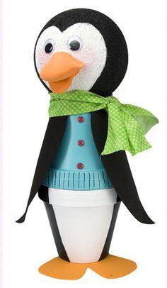 DecoArt® Clay Pot Penguin #claypot #craft