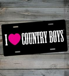 Country Girl ® I Heart CBs License Plate