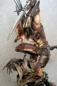 """Here is my 3rd paint up of the """"hellbreed"""" kit. Sculpted by Narin, painted by me."""