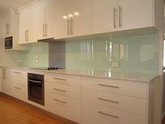 Kitchen splashback - acrylic - Page 1 - Homes, Gardens and DIY - PistonHeads New Kitchen Cabinets, Glass Kitchen, Green Kitchen, Kitchen Layout, Kitchen Decor, Kitchen Ideas, Kitchen Sink, Küchen Design, Home Kitchens