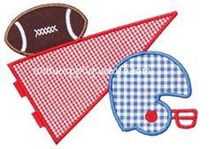 Football Pennant Applique Design