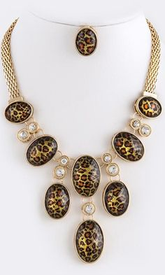 Leopard Print Necklace Set - ClayViz Fashion Boutique