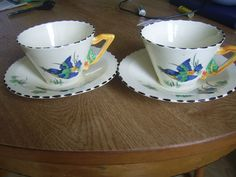 Burleigh Ware Zenith Shape '' KING FISHER ''TWO CUP & SAUCER '' GBP36.50 18 bids. Sep 2016. Sep 2016, Types Of Tea, Tea Service, Pottery Bowls, China Patterns, Earthenware, Cup And Saucer, Fisher, Bliss