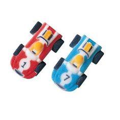 50 pkg ~ Lucks Mini Race Cars Edible Sugar Dec-ons ~ Cake/Cupcake Topper ~ New!!