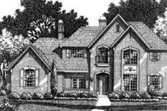 European Style House Plan - 5 Beds 4.5 Baths 4300 Sq/Ft Plan #141-156 Exterior - Front Elevation - Houseplans.com