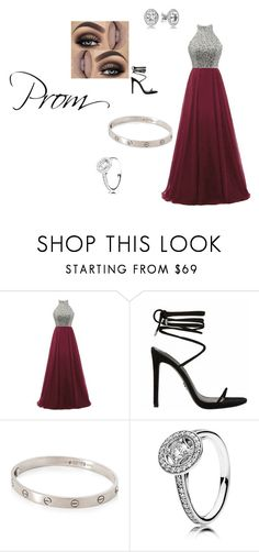 """Prom"" by lilyveness on Polyvore featuring Cartier and Pandora"