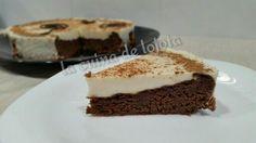 Tarta brownie y natillas