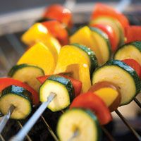 Grilled Organic Summer Vegetables with Lime and Chipotle-infused Olive Oil