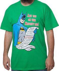 Batman Naughty And Nice List Christmas T-Shirt.