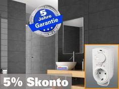 Infrarot Spiegelheizung mit Thermostat, Heizspiegel Bad Heizung ESG Glas Leistung 500 Watt, recht für Räume bis 12 qm - Energie effiziente infrarot Elektroheizung