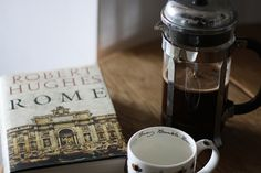 coffee, book, and rome image