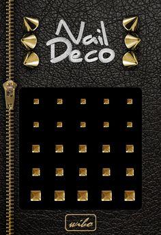 Zadbaj o manicure w absolutnie stylowym wydaniu! Wzbogać manicure o ćwieki w kształcie kółeczek - Nail Deco nr 1 LUB kwadratów Nail Deco nr 2.