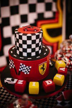 Ferrari birthday cake www.s-k-cakes.co.uk Bmw Cake, Ferrari Cake, Ferrari Party, Race Car Birthday, Cars Birthday Parties, 1st Boy Birthday, Birthday Cake, Cars Cake Design, Ideas Decoracion Cumpleaños