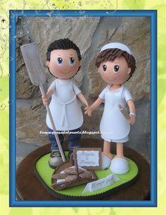 Handmade Crafts, Diy And Crafts, Fondant Figures Tutorial, Sugar Craft, Pasta Flexible, Foam Crafts, New Hobbies, Wedding Cake Toppers, Craft Tutorials