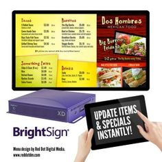BrightSign Unveils its XD Smart Menu Board at European Sign Expo