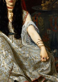 """""""Mi amor está enfermo de mi amar. ¿Cómo no lo ha de estar? ¿No ves que a mí no ha de llegar?"""". Al-Manisi, Sevilla (Siglo XII) Abu-L-Qasim al-Manisi, llamado Asa al-Ama Manís.Era el lazarillo de """"el ciego de Tudela"""" al-Tutili y por eso le llamaban al-Ama (""""bastón de ciego"""")  """"The Sorceress"""" (detail) Georges Merle, 1883."""