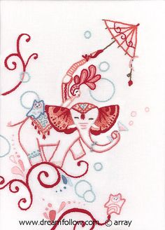 circus embroidery by merwing✿little dear, via Flickr