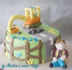 Bagger Cake 1 Year Birthday, Birthday Cakes, Happy Birthday, Kids And Parenting, Fondant, Sweet, Desserts, Food, Baby