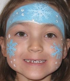 christmas face painting ideas | Face painted winter princesses reign at Calgary Christmas Parties