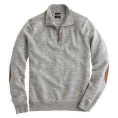 Knit for softness and finished off with suede patches for a look that shows you could teach a few style lessons yourself. <ul><li>Slim fit, cut more narrowly through the body and sleeves.</li><li>Merino wool.</li><li>Half zip with leather pull-tab.</li><li>Racking stitch at collar.</li><li>Hand wash.</li><li>Import.</li><li>Select stores.</li></ul>