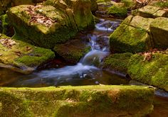 Stream and stones by Hubert Müller Waterfall, Stones, Nature, Outdoor, Outdoors, Rocks, Waterfalls, Stone, Outdoor Games