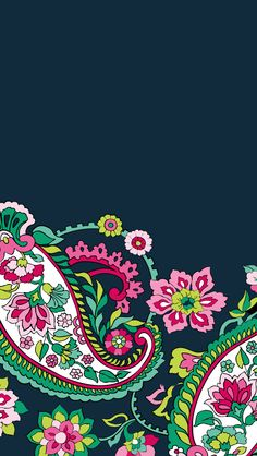 Dress your tech: Petal Paisley Mobile Wallpaper | Vera Bradley