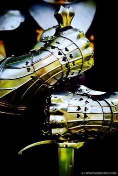Knight in shining armor . I think I'd rather have a Knight in UNshiny armor cause that would mean he was a fighter & I'd want him to fight for me when/if the moment came. Medieval Knight, Medieval Armor, Medieval Fantasy, Knight In Shining Armor, Knight Armor, Lizzie Hearts, Armadura Medieval, Conceptual Photography, Sword Photography