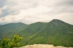 Wiseman's View in the blue ridge parkway, Brown Mountain lights,