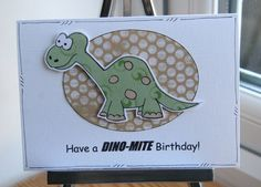 Dinosaur - Have a Dino-Mite Birthday Card - Can Be Personalised
