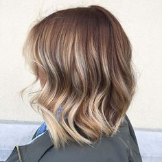 Caramel Long Bob Style with Blonde Ends
