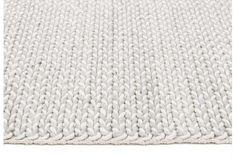 Helena Woven Wool Rug Grey White 225x155cm
