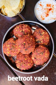 beetroot vadai recipe, beetroot masala vada, chettinad beetroot lentil fritters with step by step photo/video. deep fried snack from popular tamil cuisine. Pakora Recipes, Paratha Recipes, Chaat Recipe, Veg Recipes, Spicy Recipes, Cooking Recipes, Masala Recipe, Beetroot Recipes, Indian Cooking Videos