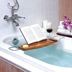 Aquala Luxury Bamboo Bathtub Caddy