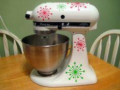 images of mixer decals   kitchenaid mixer starburst vinyl decal $11