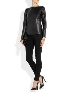 Yves Saint Laurent Leather top, Stella McCartney pumps