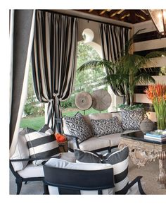 Stunning pool house living room by Jeff Andrews: Kris & Bruce Jenner's home  (Interiors, Aug/Sept 2012, p.106-107)