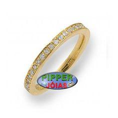 87b4308a3d54e Anel em Ouro Amarelo 18k 750 com 20 Pedras de Diamante - AN008