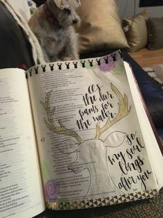 @Shayna_danae Bible journaling. As the deer