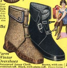 1920's women's galoshes AKA overboots
