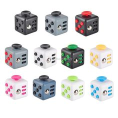 2017 New Fidget Cube Decompression Toy American Anxiety Toys Novelty 11 Colors With Retail